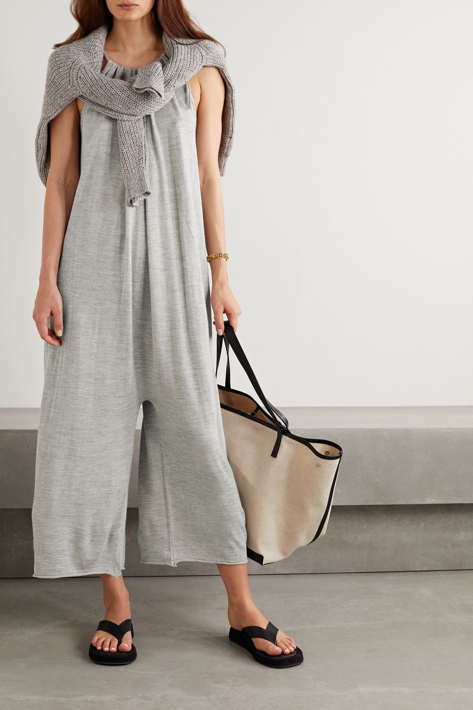 Lauren Manoogian Draw oversized gathered bamboo, merino wool and silk-blend jumpsuit