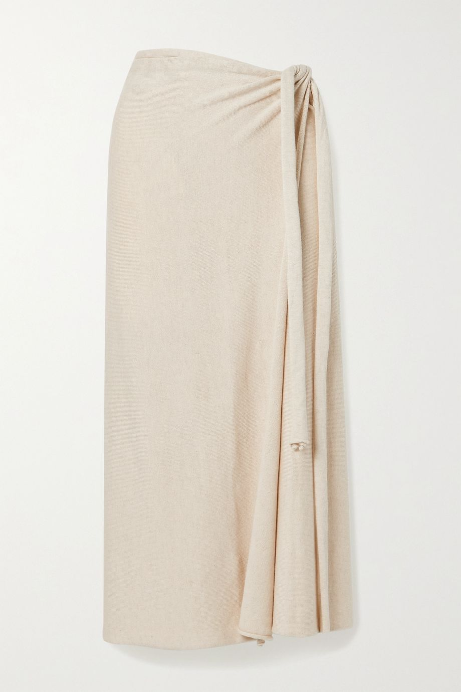 Lauren Manoogian Pima cotton and silk-blend wrap midi skirt