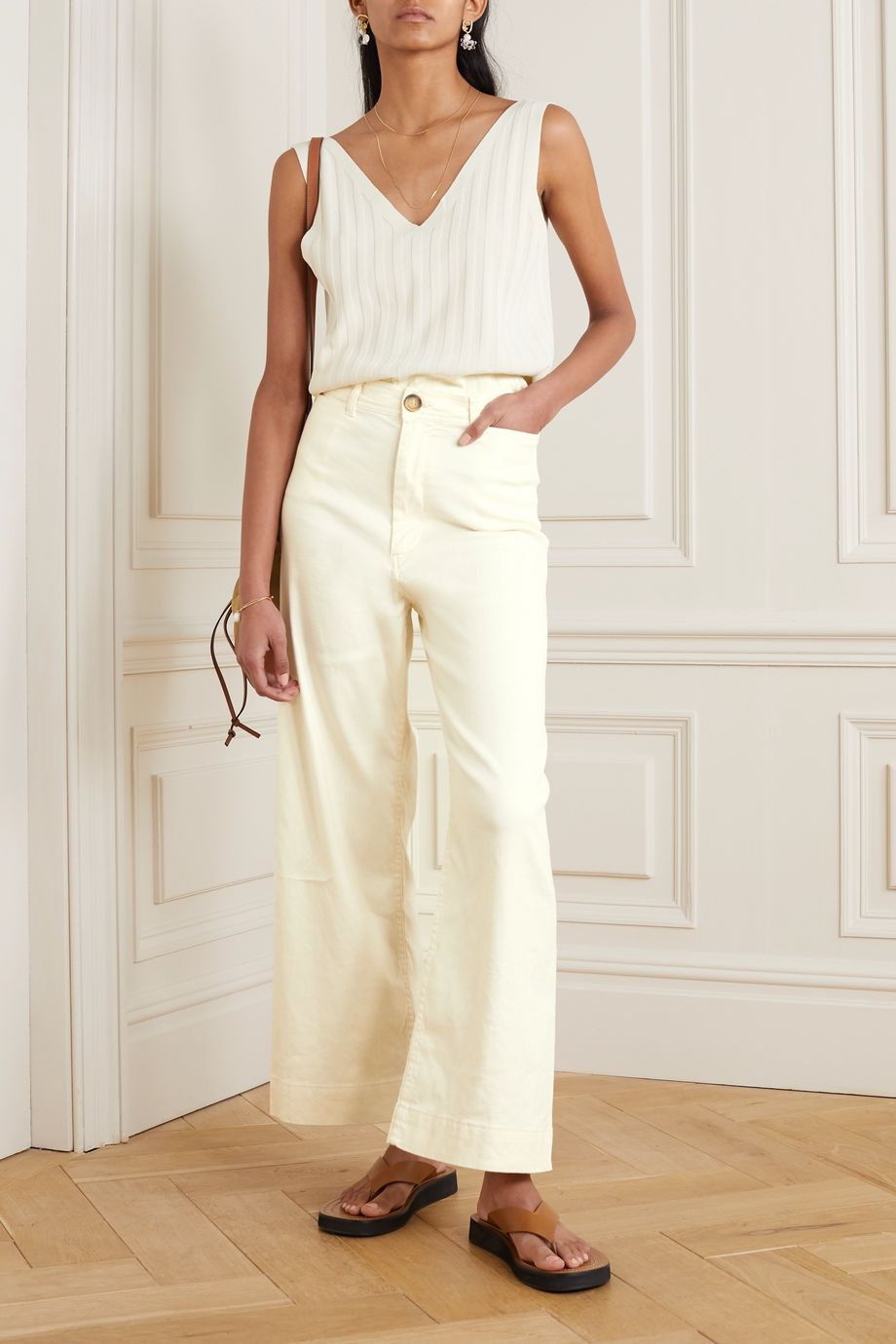 Vanessa Bruno Molly linen-blend wide-leg pants