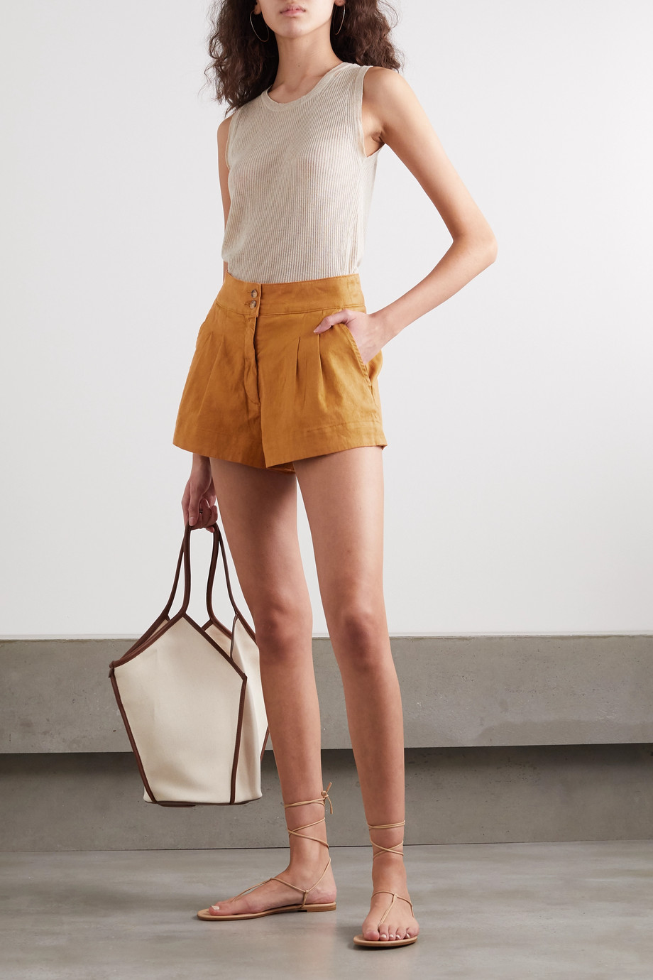 Vanessa Bruno Nessa stretch-linen and cotton-blend shorts
