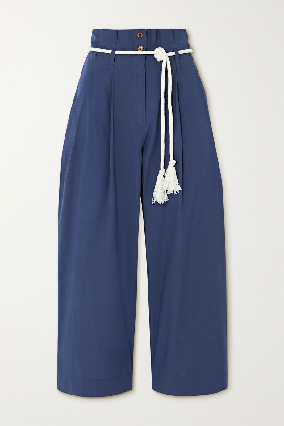 Vanessa Bruno Nardo cropped belted cotton tapered pants