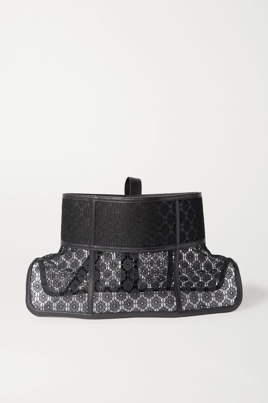 Loewe Obi lace and leather waist belt