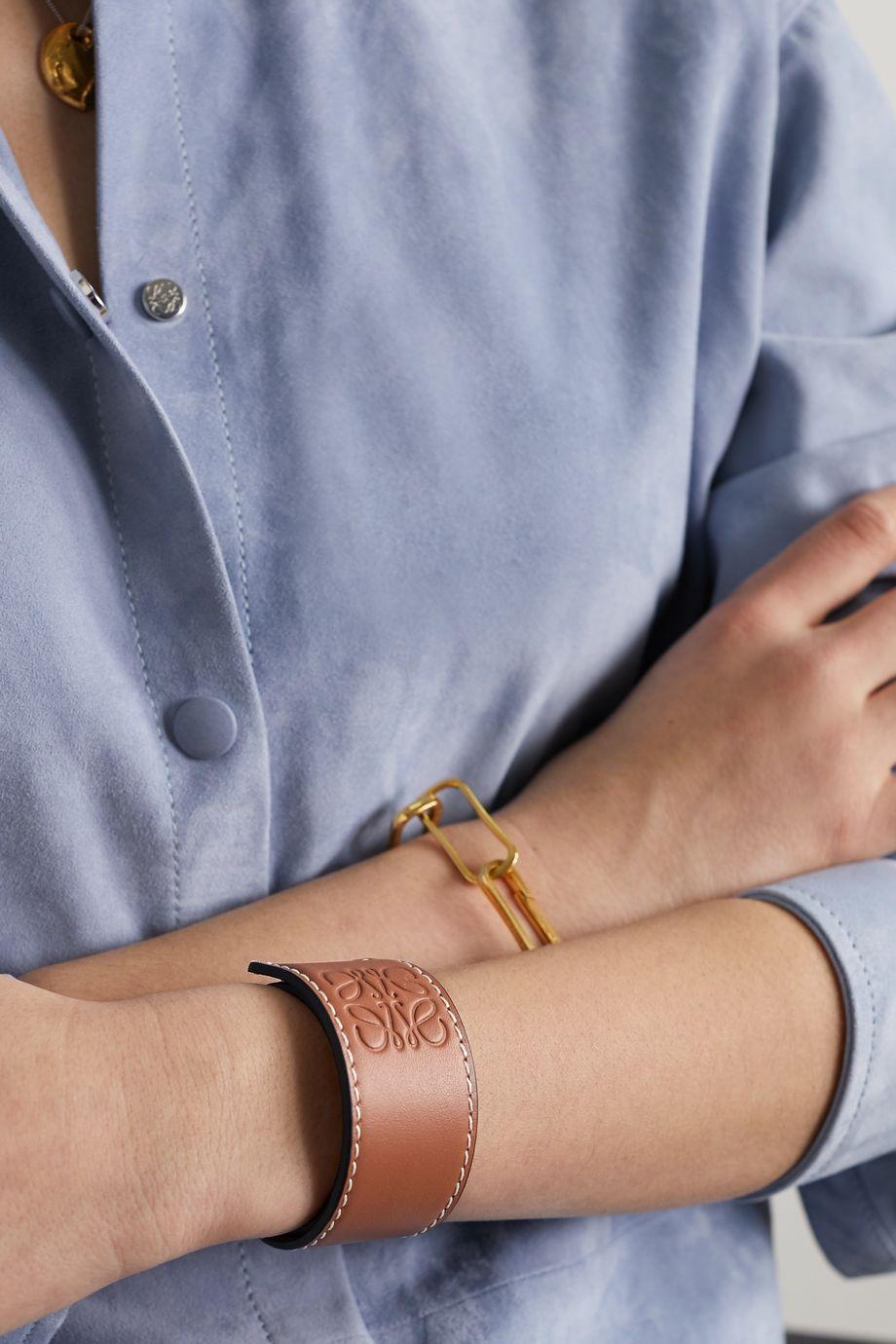 Loewe Embossed leather bracelet
