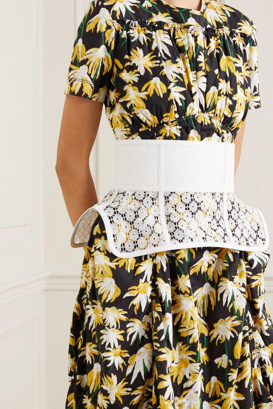 Loewe Obi lace and leather waist belt
