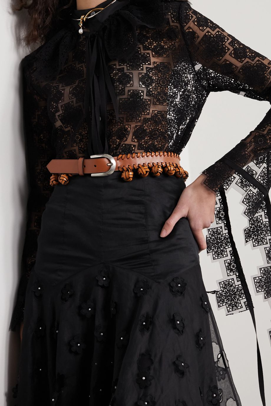 Loewe Knotted leather waist belt