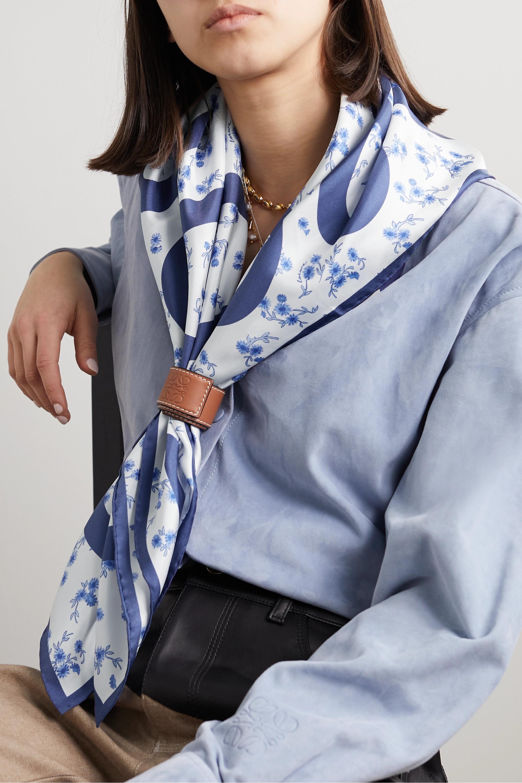 Loewe Printed silk-twill scarf
