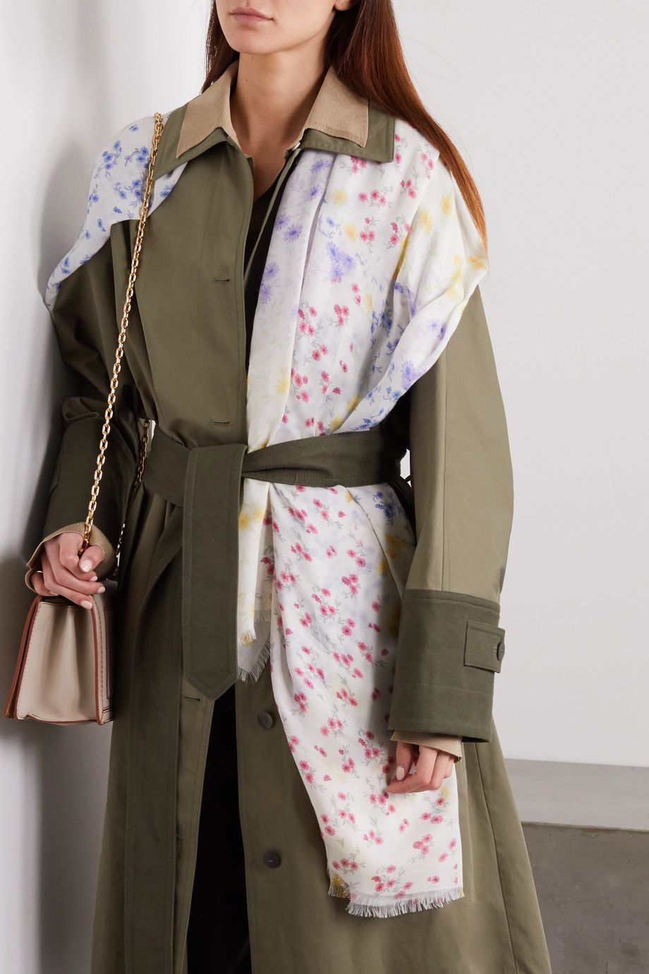 Loewe Patchwork floral-print modal and cashmere-blend scarf