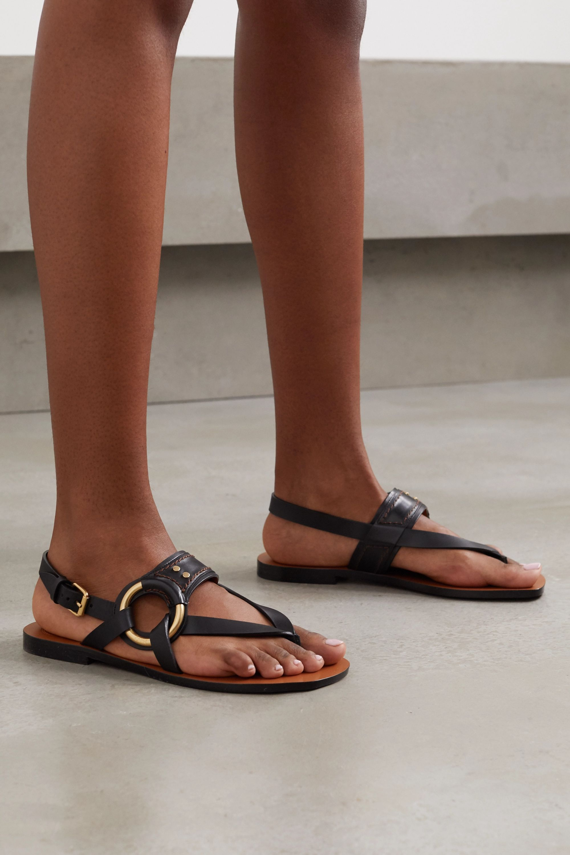 Chloé Ring-embellished leather sandals
