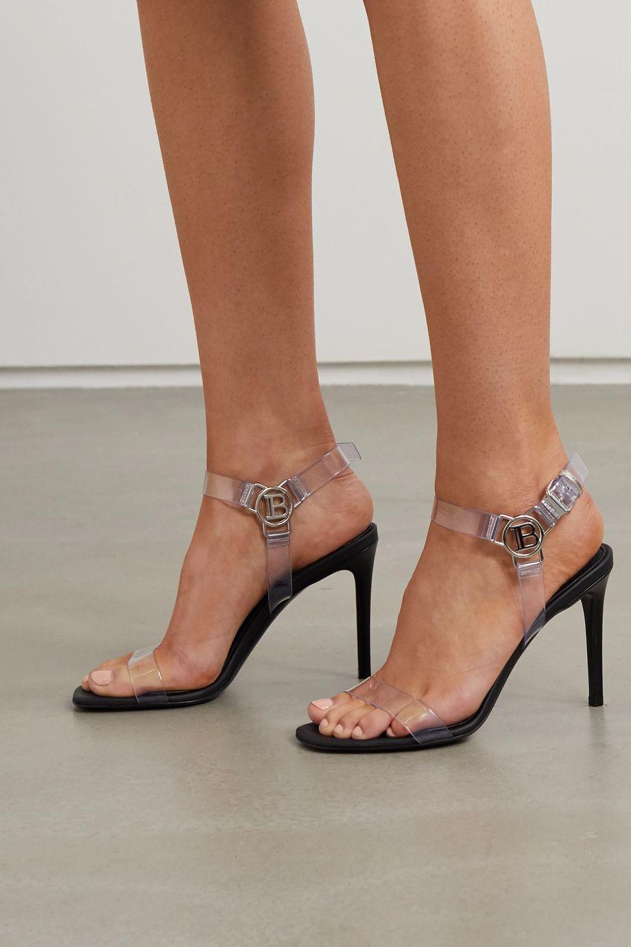 Balmain Logo-embellished PVC sandals