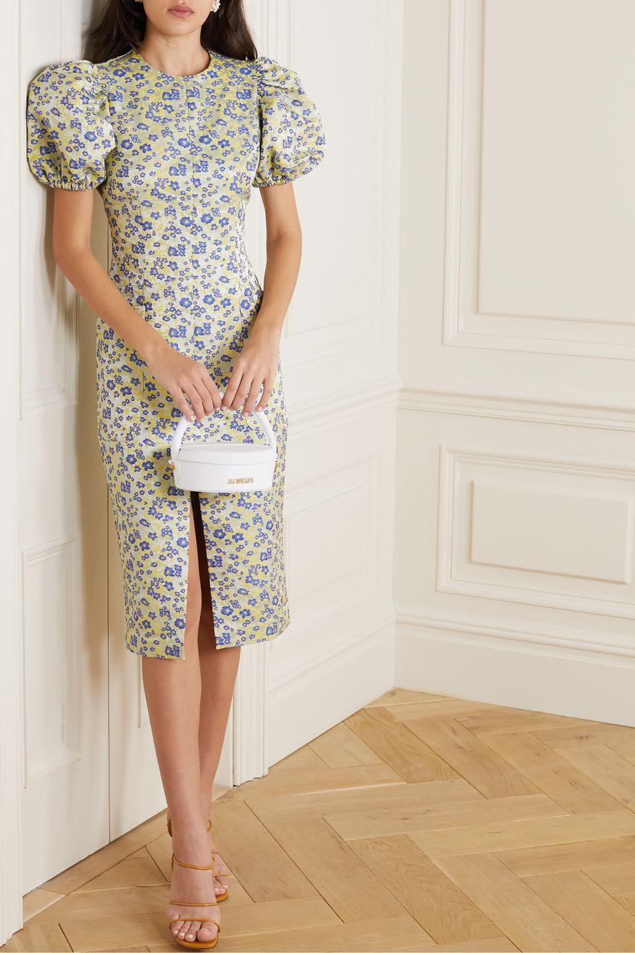 ROTATE Birger Christensen Katarina floral-jacquard dress