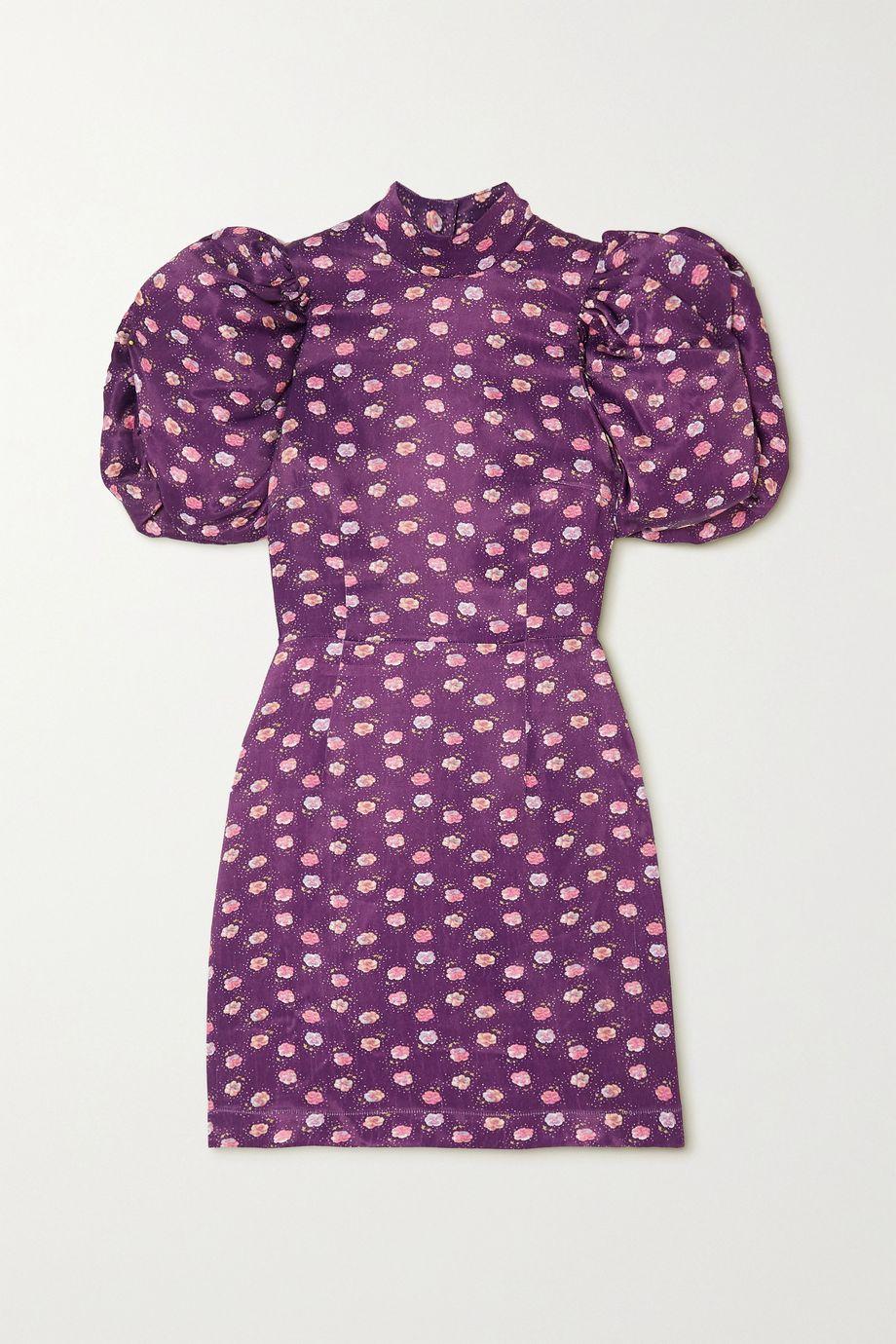 ROTATE Birger Christensen Dusk open-back floral-print satin mini dress