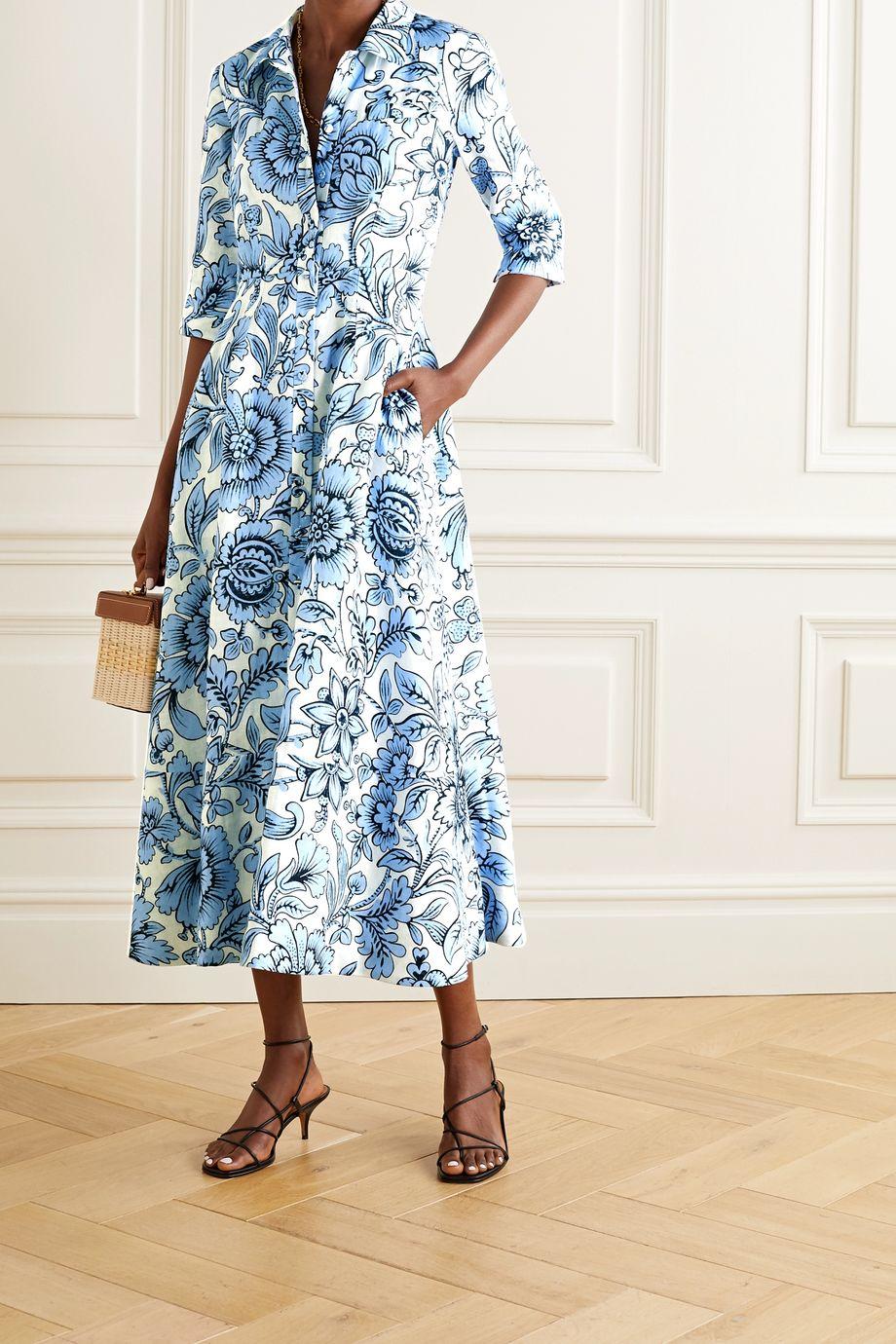 Erdem Kasia floral-print linen midi dress