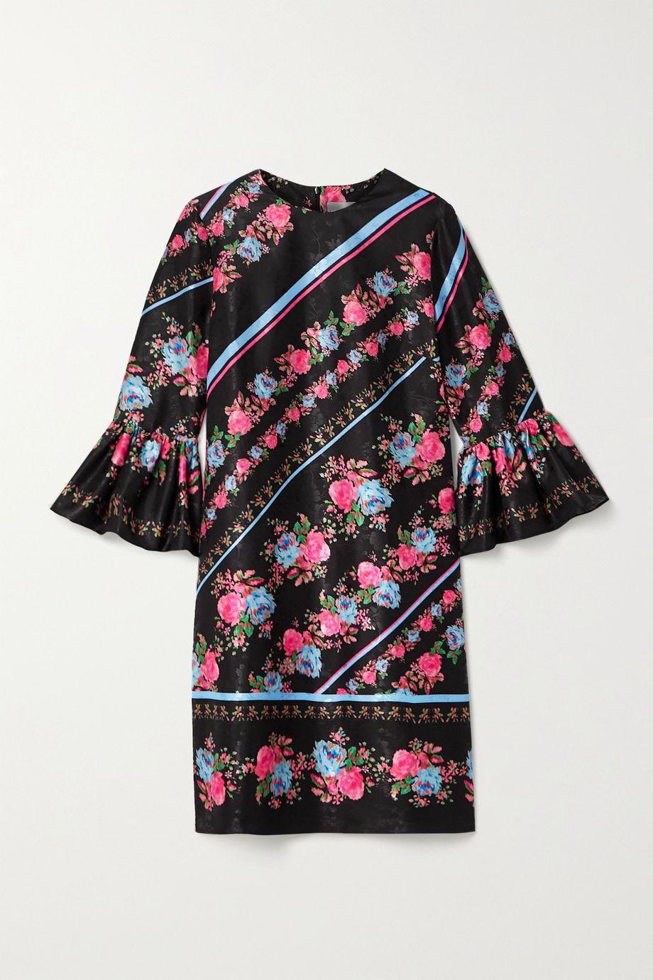 Erdem Elijah floral-print satin-jacquard mini dress