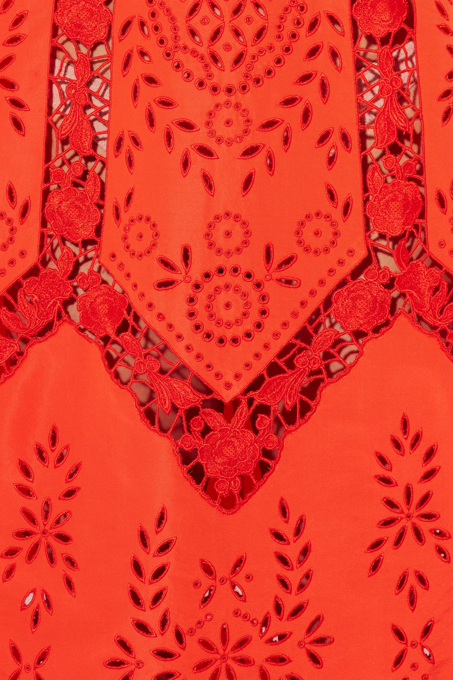 Erdem Olivier broderie anglaise taffeta gown