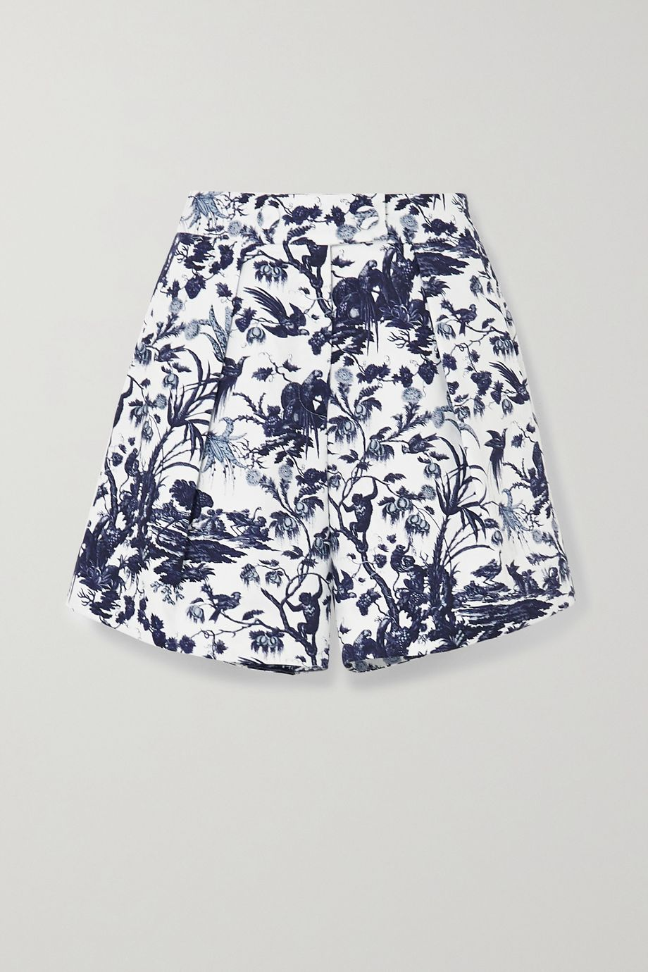 Erdem Howard printed cotton-twill shorts