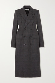 Balenciaga Double-breasted Prince of Wales checked wool coat