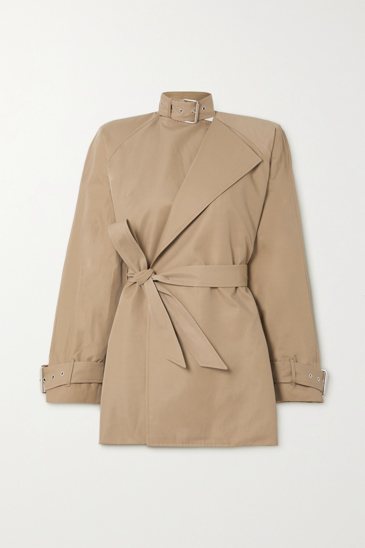 Balenciaga Jacke aus Twill aus einer Baumwollmischung mit Bindegürtel