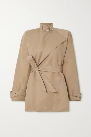 Balenciaga - Belted Cotton-blend Twill Coat - Beige