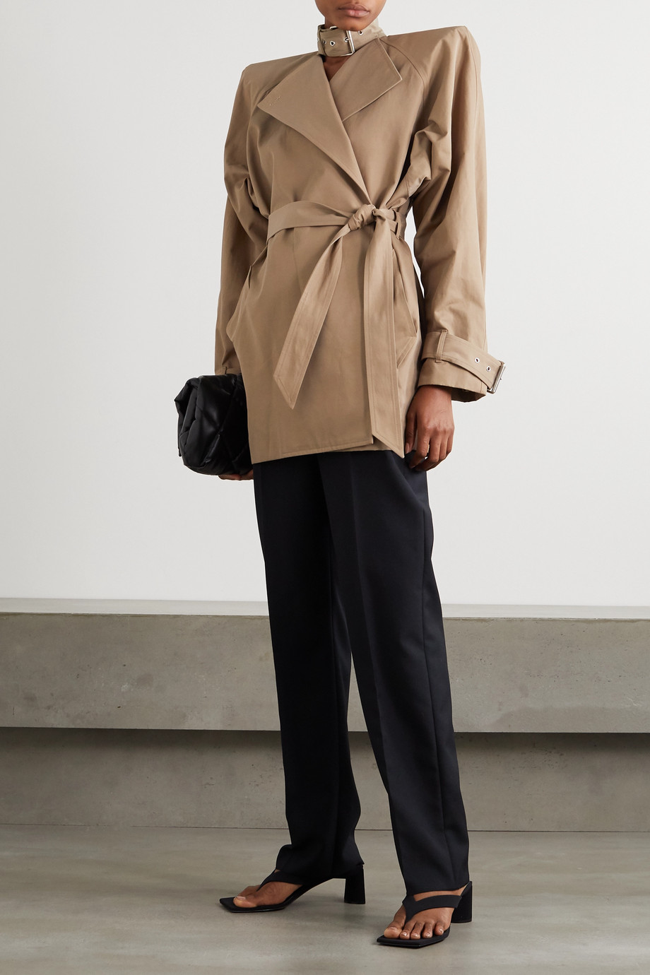 Balenciaga Belted cotton-blend twill coat