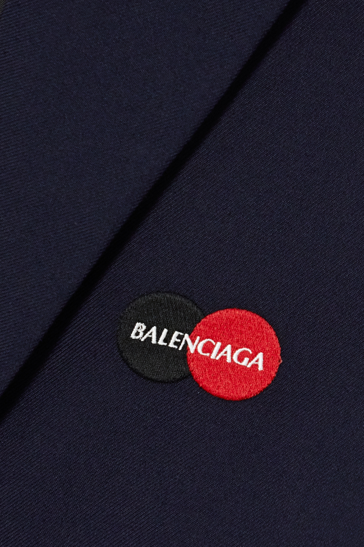 Balenciaga Embroidered wool-blend coat