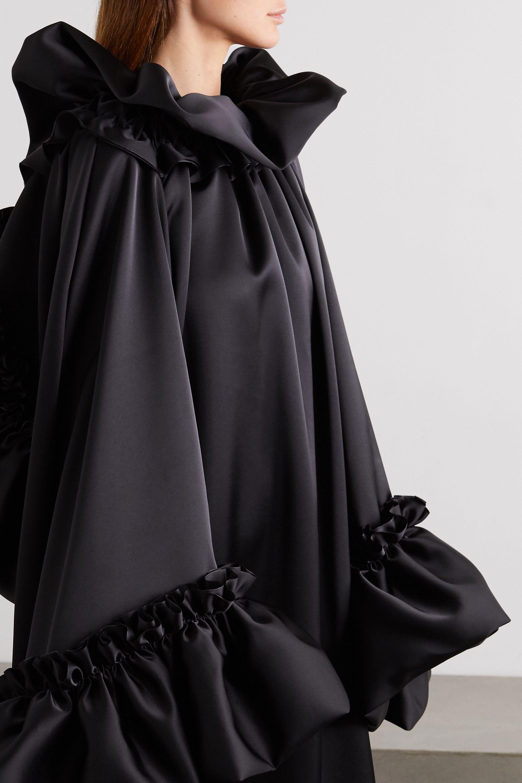 Balenciaga Open-back ruffled satin gown