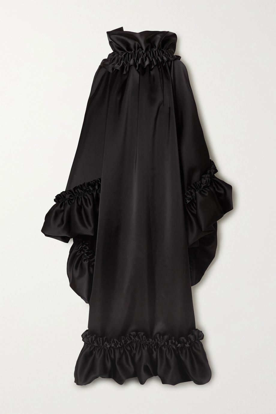 Balenciaga Open-back ruffled satin gown