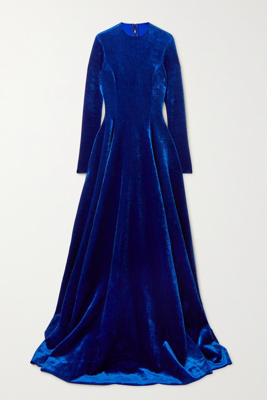 Balenciaga Bonded velvet gown
