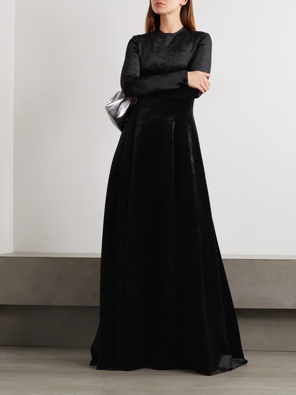 Balenciaga Stretch-velvet gown