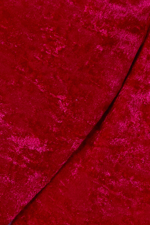 Balenciaga Off-the-shoulder layered stretch-crushed velvet mini dress