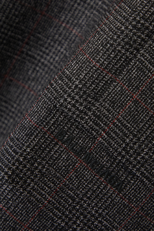 Balenciaga Oversized-Minikleid aus Wolle mit Glencheck-Muster
