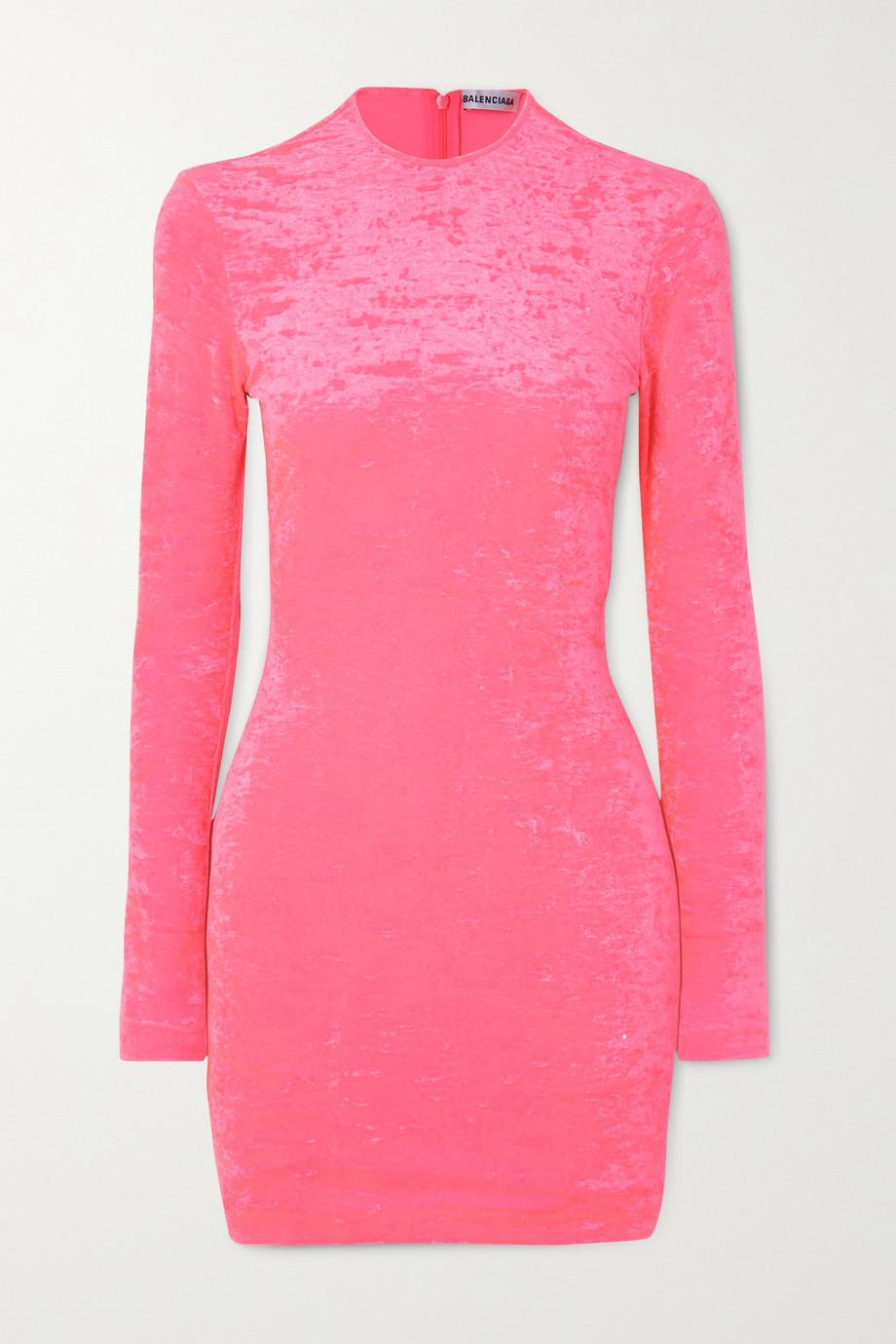 Balenciaga Stretch crushed-velvet mini dress