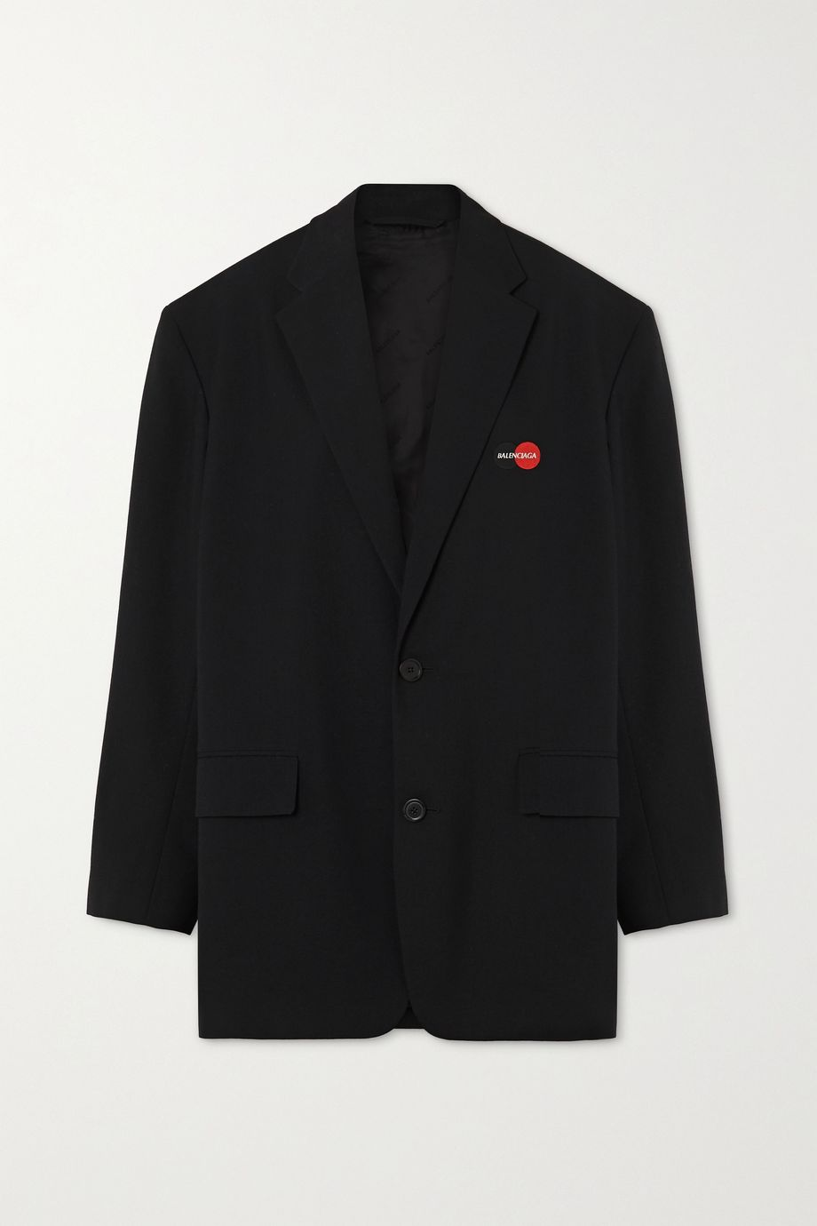 Balenciaga Oversized embroidered wool-blend twill blazer