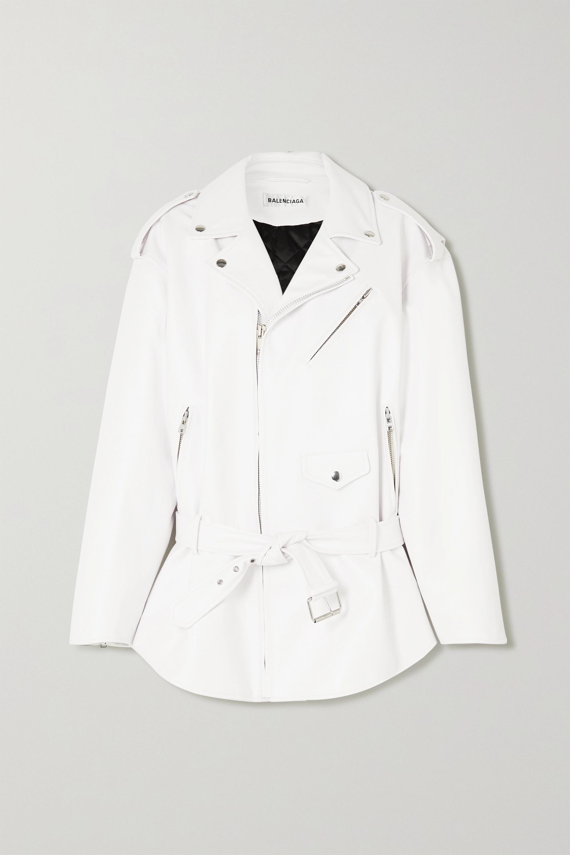 Balenciaga Oversized leather biker jacket