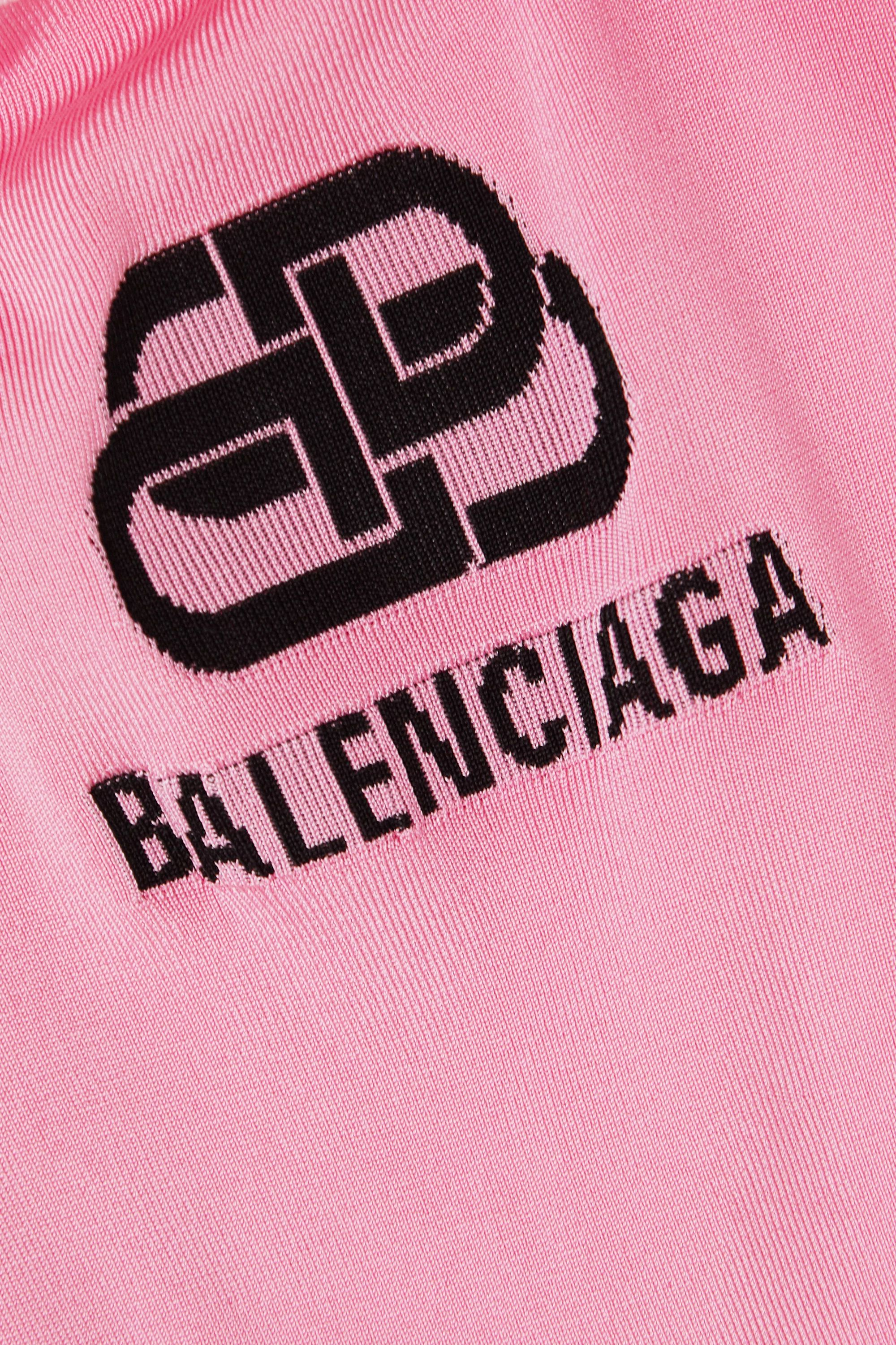 Balenciaga Intarsia ribbed-knit sweater