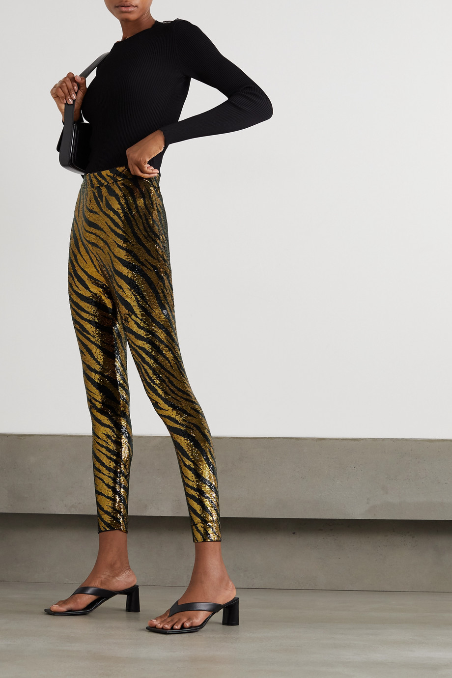 Balenciaga Sequined stretch-jersey leggings
