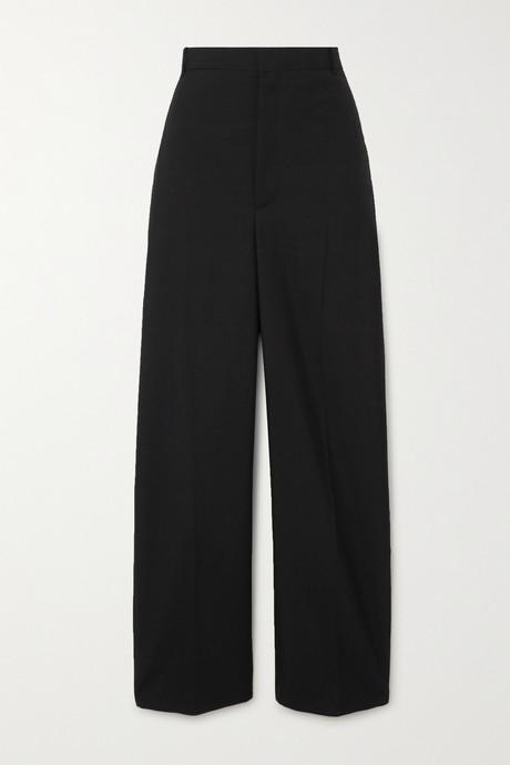 Black Wool-blend twill straight-leg pants | Balenciaga CzC8F8