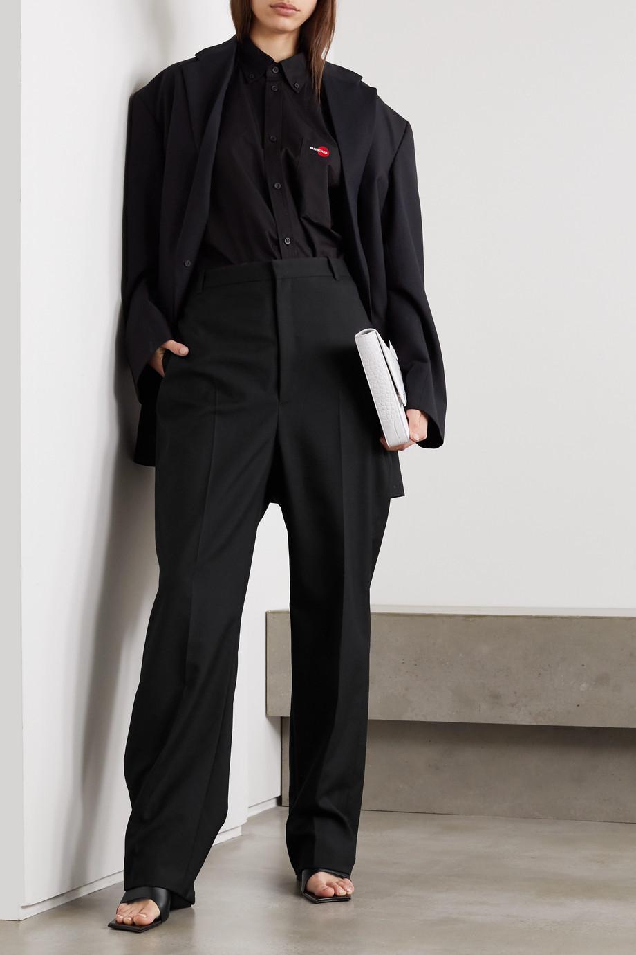 Balenciaga Wool-blend twill straight-leg pants