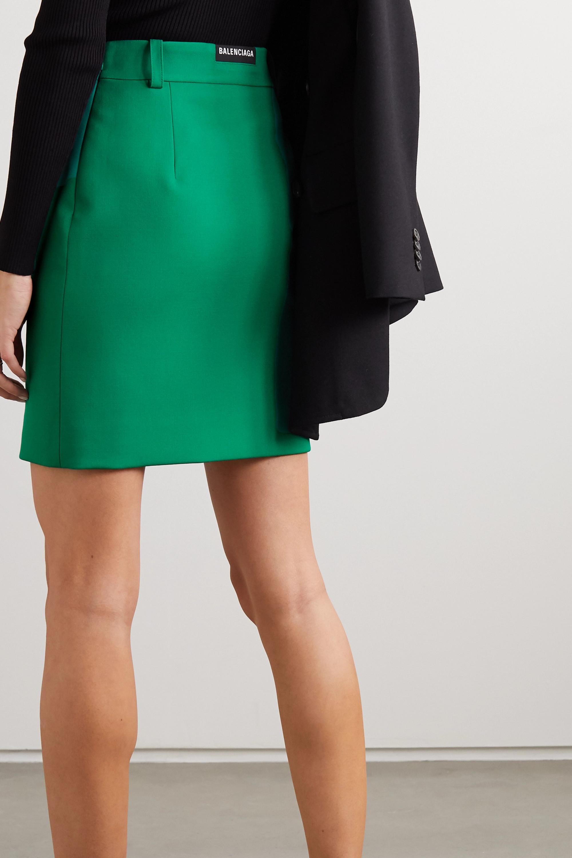 Balenciaga Minirock aus einer Wollmischung