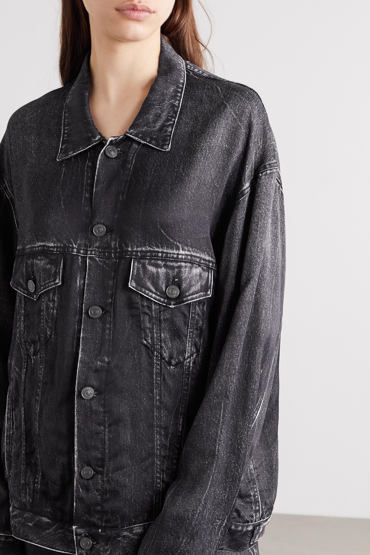 Balenciaga Oversized printed satin shirt