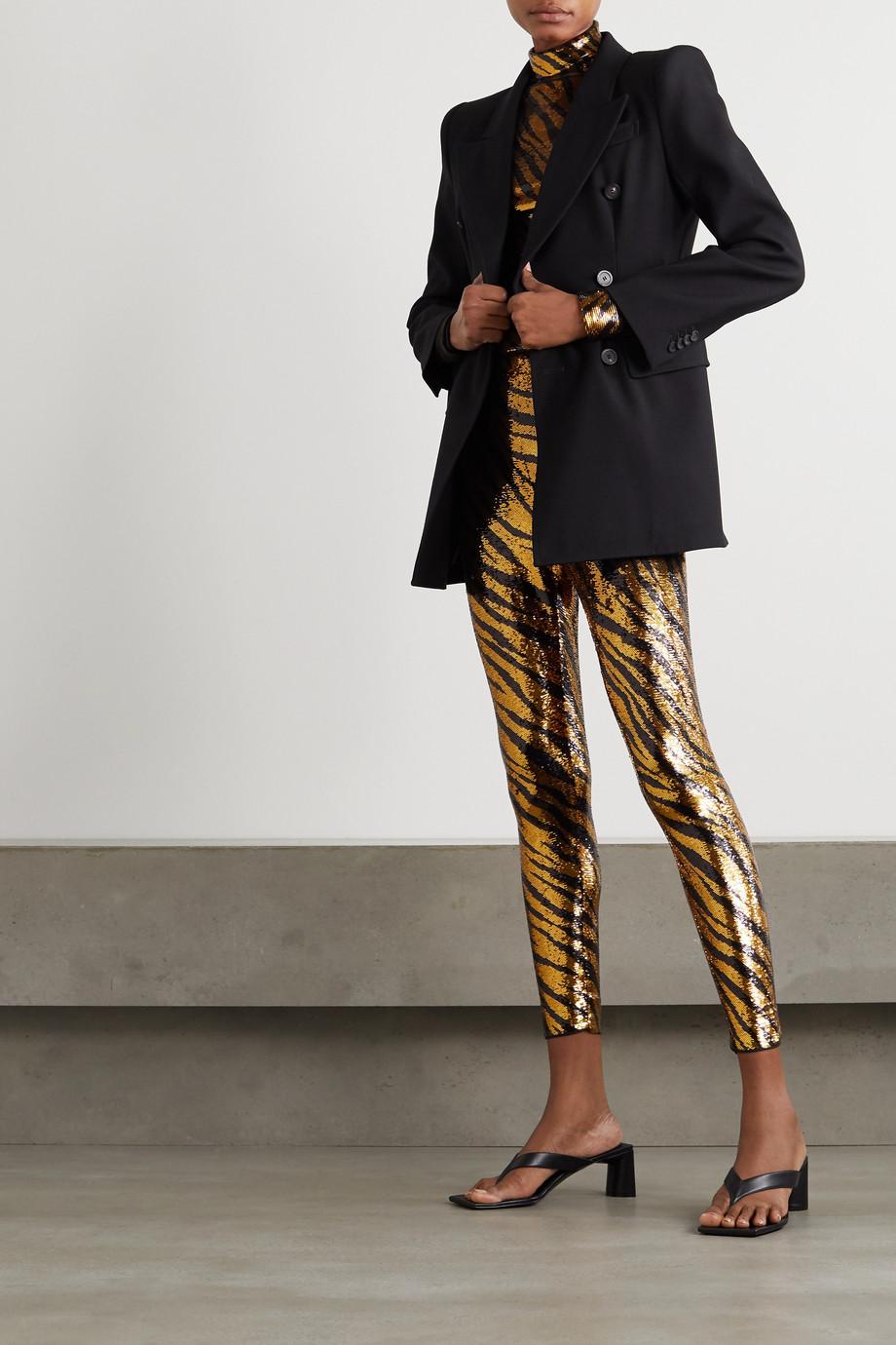 Balenciaga Sequined tulle turtleneck top