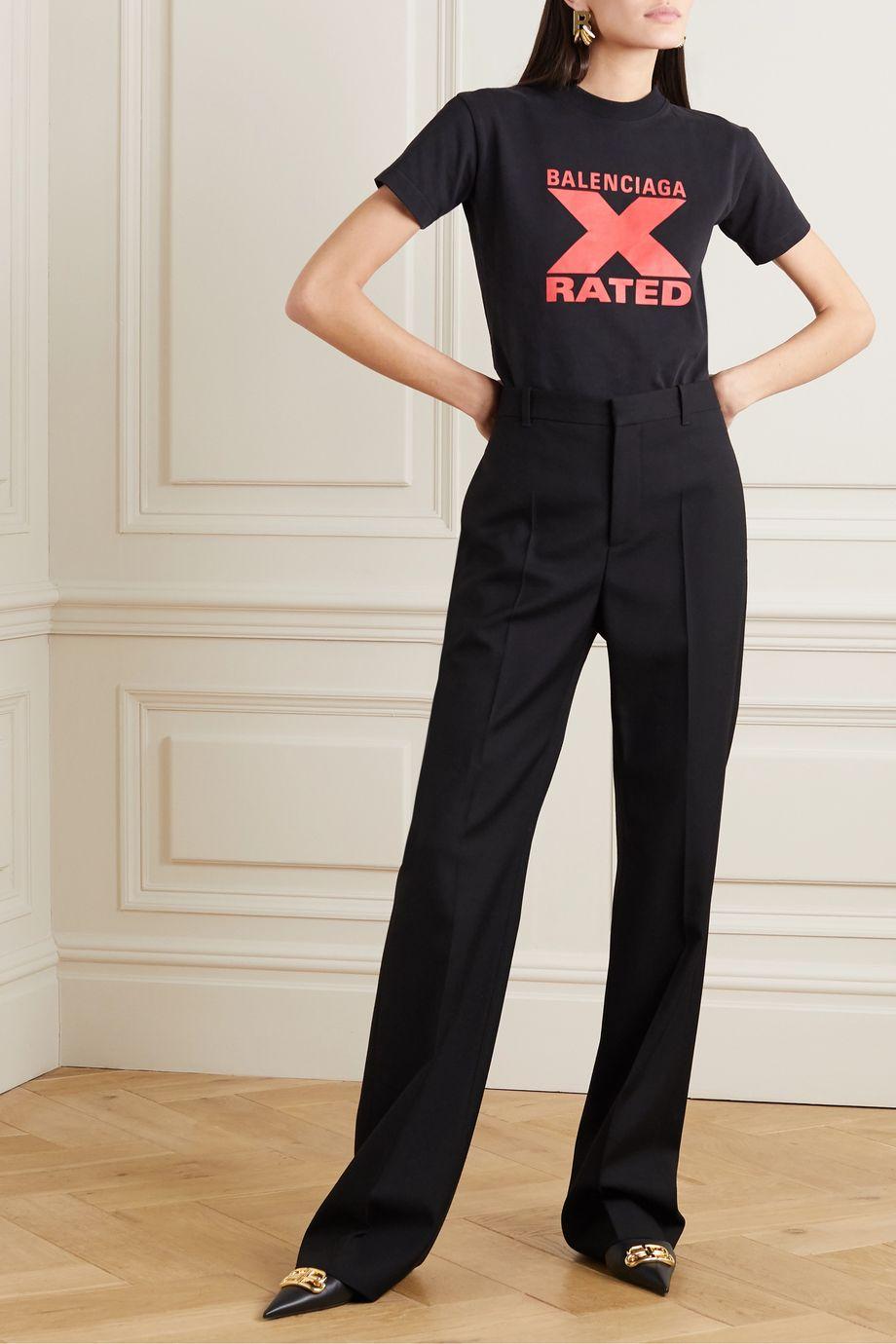 Balenciaga 印花纯棉平纹布 T 恤