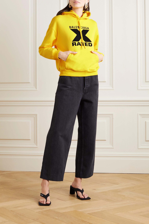 Balenciaga Printed cotton-jersey hoodie
