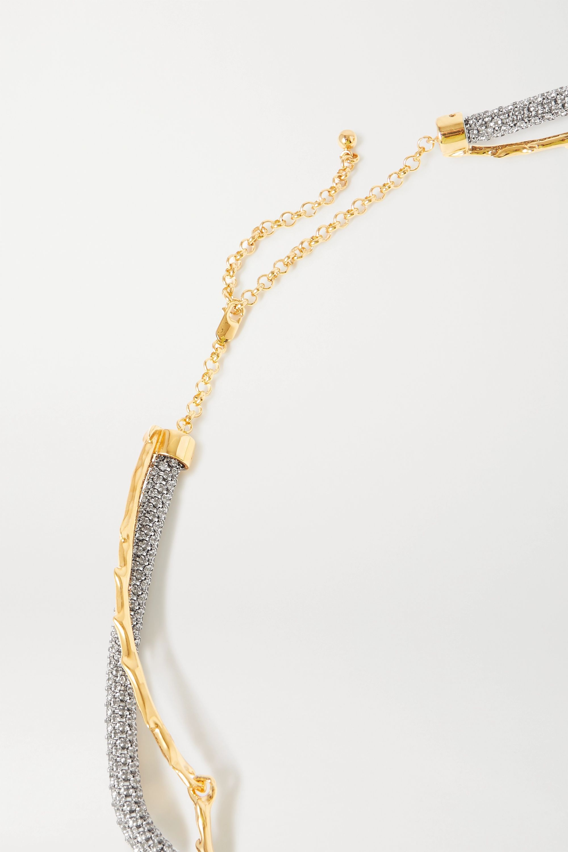 Chloé Crystal-embellished gold and silver-tone belt