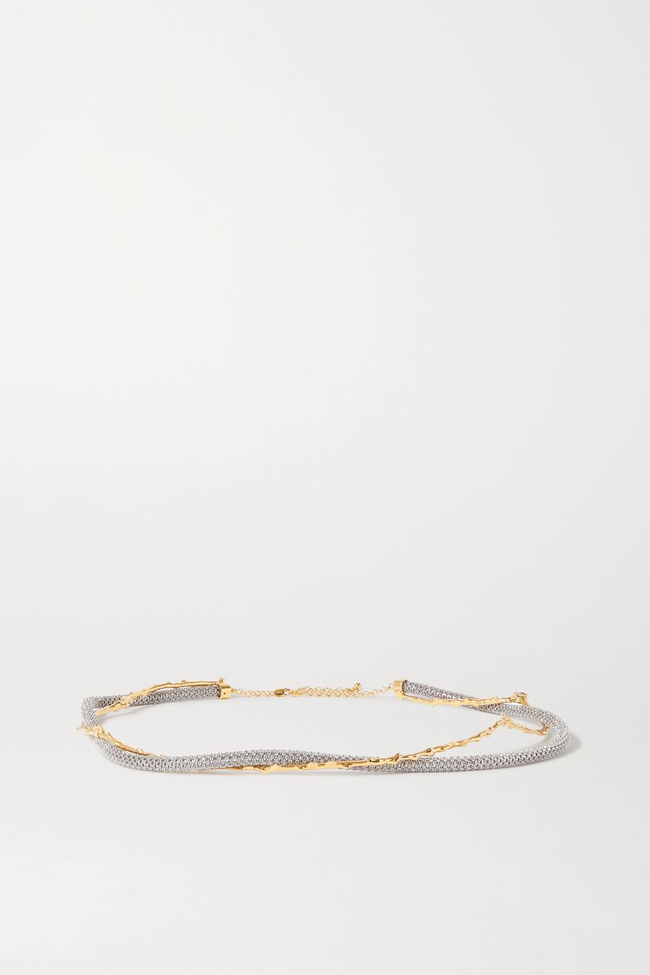 Chloé Crystal-embellished gold and silver-tone belt