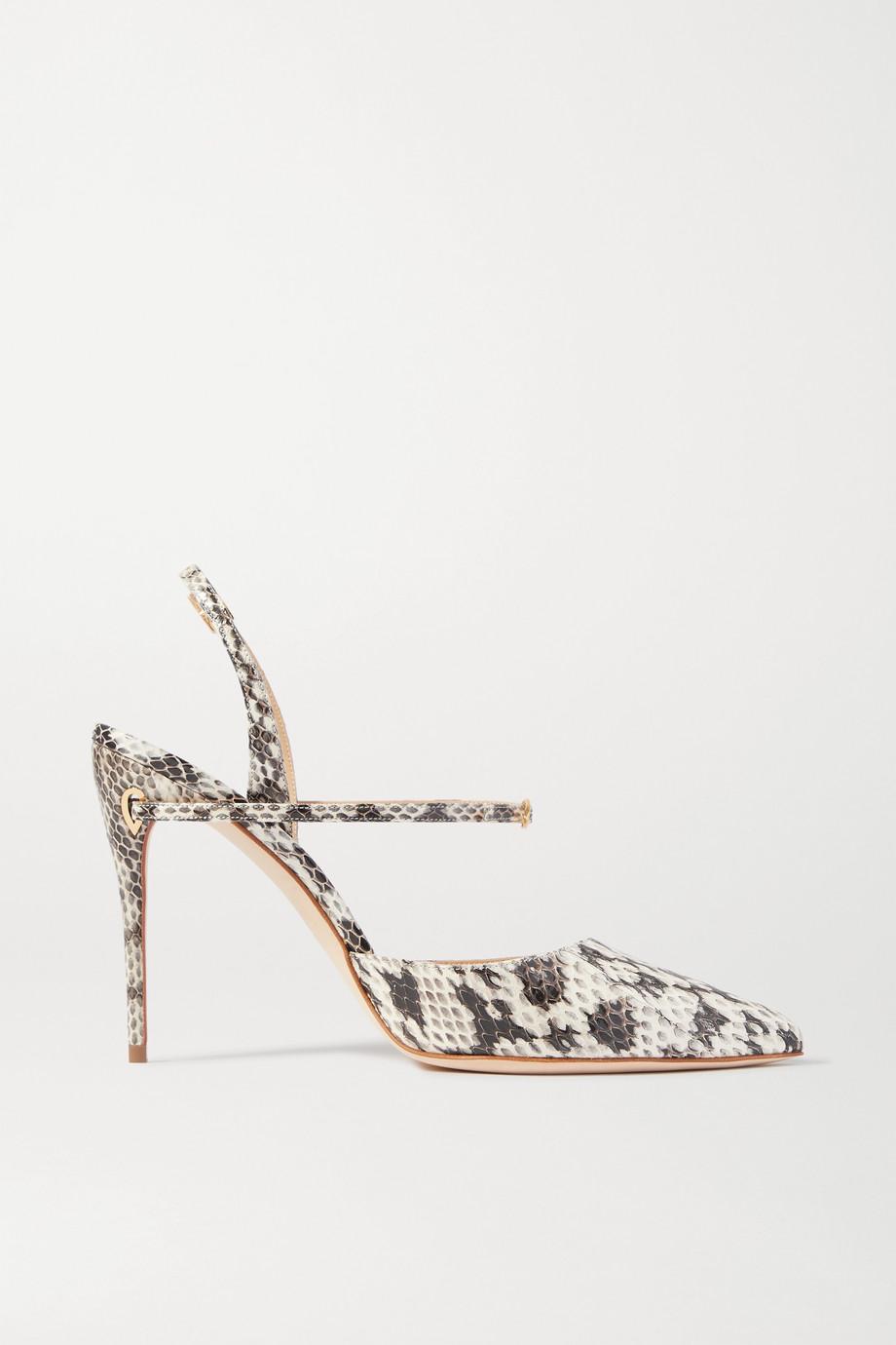 Jennifer Chamandi Vittorio 105 金蛇皮露跟高跟鞋