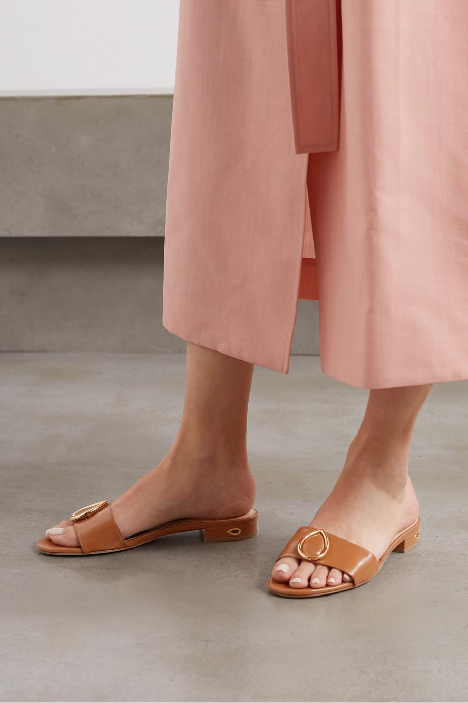 Jennifer Chamandi Andrea embellished leather sandals