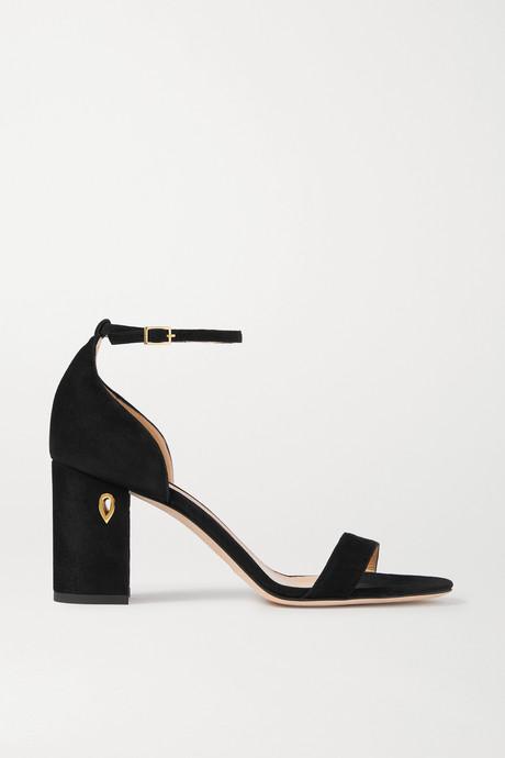 Black Massimo 85 suede sandals | Jennifer Chamandi D61Dwi
