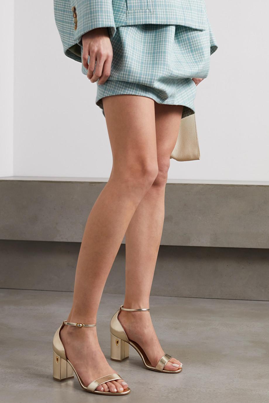 Jennifer Chamandi Massimo 85 embellished metallic leather sandals