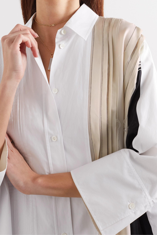 Joseph Dania Oversized-Hemdblusenkleid aus Baumwollpopeline und Cupro mit Falten