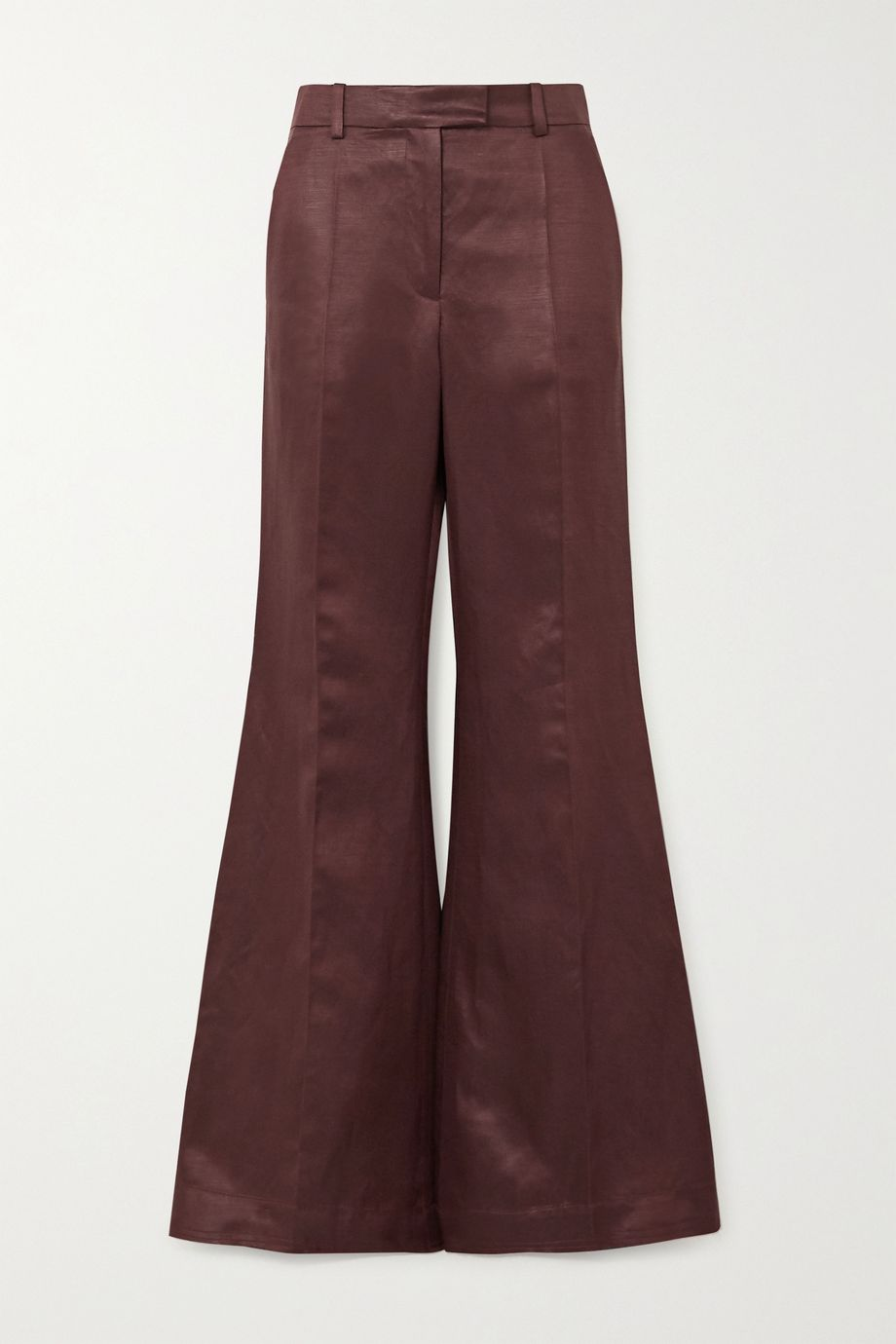 Joseph Tana Chintz linen-blend satin wide-leg pants
